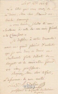 (napoleon Ier) Dubois Autograph Letter Signed Midwife Marie Louise