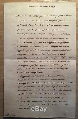 (napoleon) / Wagram / Essling / Signed Letter From Champagny (1809) / Strategy