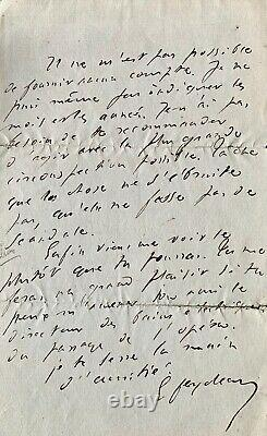 (theatre) Georges Feydeau, Autograph Handwritten Letter Signed To A Stranger