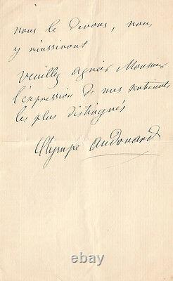 (victor Hugo) Two Autograph Letters Signed Relating To A Hugo Monument