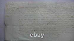 1615 PARCHEMIN signé LOUIS XIII lettre CHRISTOPHE de HARLAY Comte BEAUMONT sceau