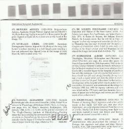 1882 Lettre Signee LOUIS PASTEUR