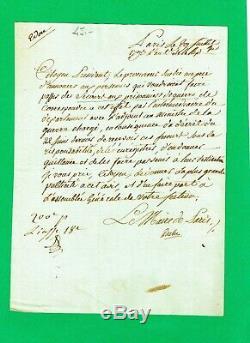 340a-lettre Autographe Signée-jean Nicolas Pache-maire De Paris-révolution-1793