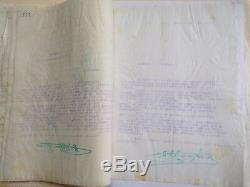 38 DOUBLES DE LETTRES SIGNEES par H. DE MONFREID HECTOGRAPHIQUE ETHIOPIE 1929