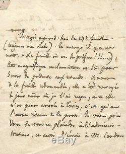 Abbé de LAMENNAIS / Lettre autographe signée à l'éditeur Pagnerre