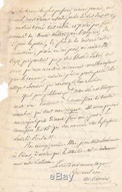 Adolphe Crémieux 2 lettre autographe signée Algérie Juif Arago Gambetta