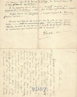 Alain FOURNIER Jacques RIVIERE Lettre autographe signée. Le Grand Meaulnes