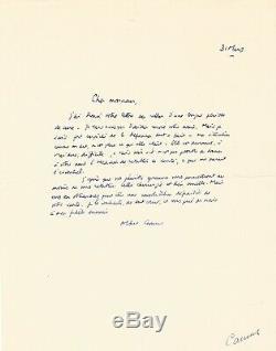 Albert CAMUS Lettre autographe signée