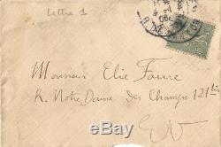 Albert MARQUET / Lettre autographe signée à propos de Matisse. 1906