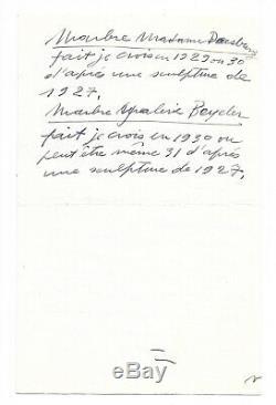 Alberto GIACOMETTI / Lettre autographe signée / Marbres / Crise Yanaihara