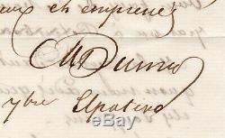 Alexandre DUMAS Lettre autographe signée, Russie 18-30 septembre 1859