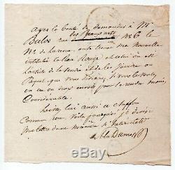 Alexandre DUMAS Lettre autographe signée, Touques 23 juillet 1831