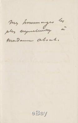 Alexandre DUMAS Lettre autographe signée à Edmond ABOUT