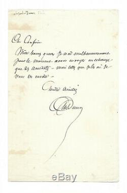 Alexandre DUMAS (père) / Lettre autographe signée