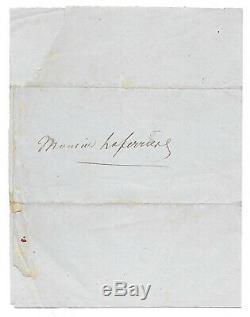 Alexandre DUMAS père / Lettre autographe signée / Rue d'Amsterdam