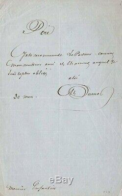Alexandre Dumas Père, Lettre Autographe Signée, Monsieur Enfantin