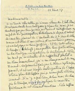 Alfred CORTOT belle lettre autographe signée sur le 2e trio de Schumann
