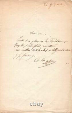 Alphonse DAUDET, Ecrivain, 1860, Lettre Autographe Signée