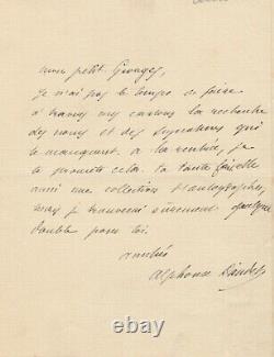 Alphonse DAUDET Lettre autographe signée