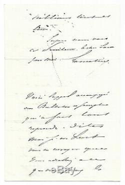 Alphonse de LAMARTINE / Lettre autographe signée / Auxerre