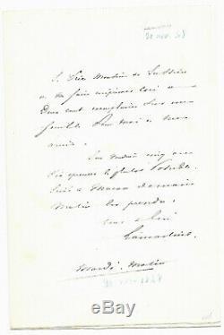 Alphonse de LAMARTINE / Lettre autographe signée / Elections de 1848