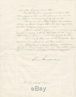 Alphonse de LAMARTINE / Lettre autographe signée / Ses oeuvres complètes