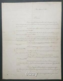 Alphonse de Lamartine Lettre signée Publication uvres complètes 1863