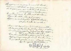 Anaïs Segalas poème autographe signé Créole Voyageur féminisme