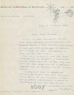 André BRETON. Lettre autographe signée. Surréalisme. 1960