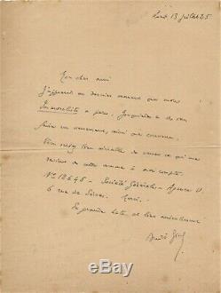 André GIDE lettre autographe signée L'Immoraliste René Ben-Sussan 1925