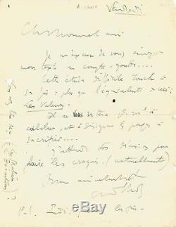 André LHOTE / Lettre autographe signée