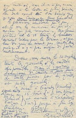 André LHOTE Lettre autographe signée au galeriste Marcel Guiot. 1951