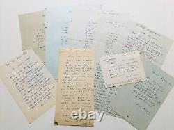 André PLANSON Bel ensemble de 10 lettres autographes signées Jules Verne