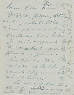Anna DE NOAILLES Lettre autographe signée à Lucien CORPECHOT