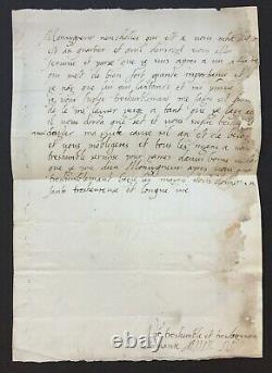 Anne d'ESTE Reine-mère de la Ligue Rare lettre autographe signée à Guise