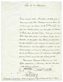 Antoine Laurent de LAVOISIER / Lettre signée / Chimie moderne / Révolution