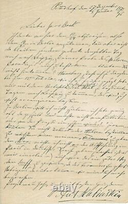 Anton Rubinstein Lettre autographe signée 1876