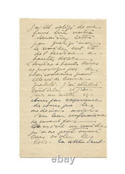 Antonin ARTAUD / Lettre autographe signée / Heroïne / Picasso / Giacometti / Art