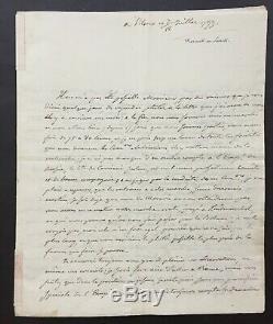 Armée des émigrés Royalistes de Condé lettre autographe signée 1799 6 p