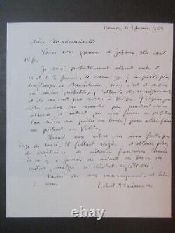 Art Animalier Robert Hainard Manuscrit Manuscript Lettre Autographe Signé 1965