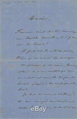 Art Charles JACQUE lettre autographe signée il est vieux est en retard