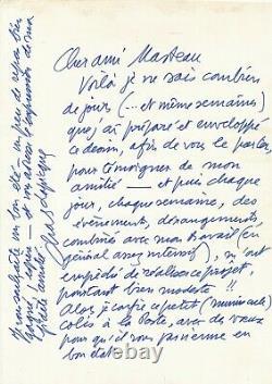 Art Charles LAPICQUE (1898-1988), peintre lettre autographe signée et DESSIN