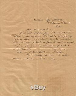 Arthur RIMBAUD Lettre autographe signée à Ugo Ferrandi / Aden avril 1888. Harar