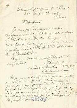 Arthur RIMBAUD Lettre autographe signée à sa famille. Aden 18 novembre 1885