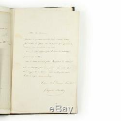 Auguste Barbier LES IAMBES Originale 2 lettres autographes Reliure signée