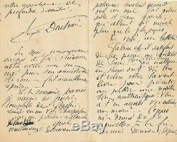 Auguste-Léon DORCHAIN Belle lettre autographe signée écriture maladie 8 pages