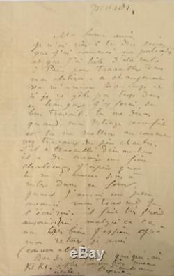 Auguste RENOIR / Lettre autographe signée / Ses peintures et son nouvel atelier