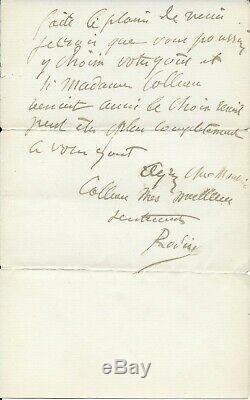 Auguste RODIN lettre autographe signée