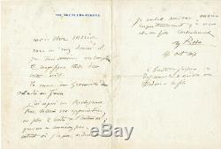 Auguste RODIN lettre autographe signée à Charles Morice 1907