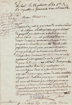 Augustin ROBESPIERRE Lettre autographe signée Révolution française 1794